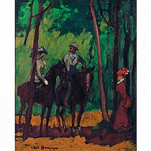 Kees van Dongen (1877-1968). Cavaliers au bois de Boulogne, 1906Oil on canvas; signed lower left. 16 1/8 x 13 in.