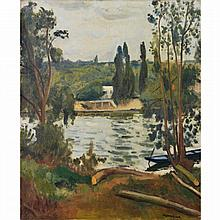 ƒAlbert Marquet (1875-1947). Bords de Seine à Villennes, 1913. Oil on canvas; signed lower right. 24 x 19 11/16 in.