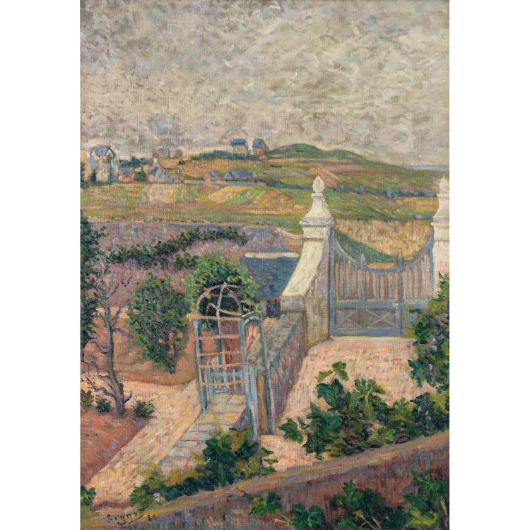 ƒPaul Signac (1863-1935). Saint Briac de ma fenêtre, 1865. Oil on canvas; signed and dated lower left. 25 5/8 x 17 11/16 in.