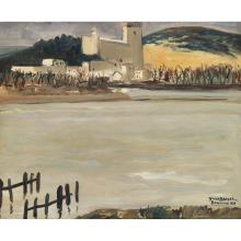YVES BRAYER (1907-1990). château Beaucaire, 1939. Oil on canvas; signed, titled and dated lower right. 18 7/8 x 21 5/8 in.