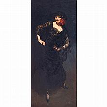 JEAN SALA (1895-1918). POLAIRE, 1910. Oil on canvas; signed, dated and situated lower right. 74 13/16 x 33 1/2 in.