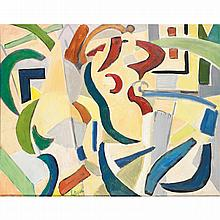 LOUIS LATAPIE (1891-1972). Composition femme, 1953. Oil on canvas; signed lower left; signed and dated