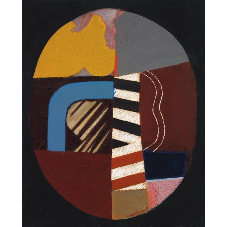 MAX PAPART (1911-1994). Orage, 1971. Oil on canvas; signed lower right; titled, signed and dated