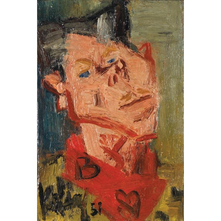 GEN PAUL (EUGENE PAUL DIT) (1895-1975). Autoportrait, 1951. Oil on isorel; signed and dated