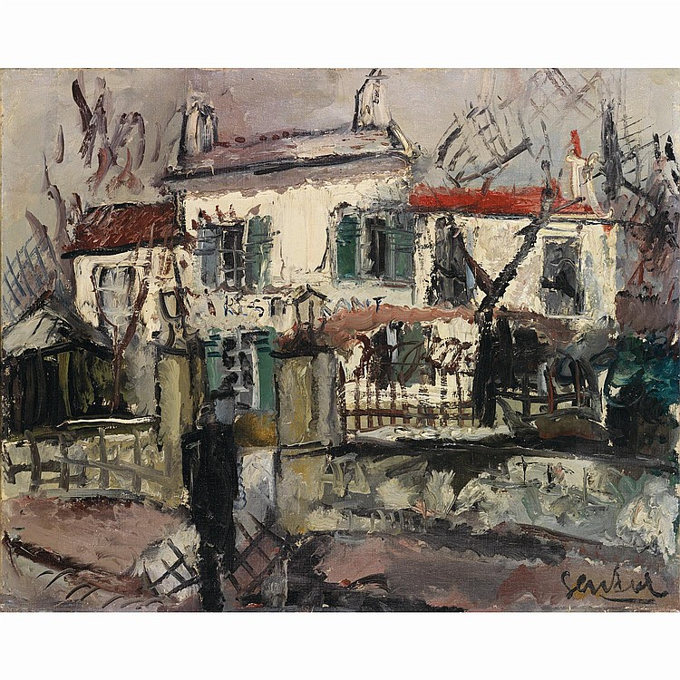 GEN PAUL (EUGENE PAUL DIT) (1895-1975). Restaurant. Oil on canvas; signed lower right. 25 5/8 x 31 7/8 in.
