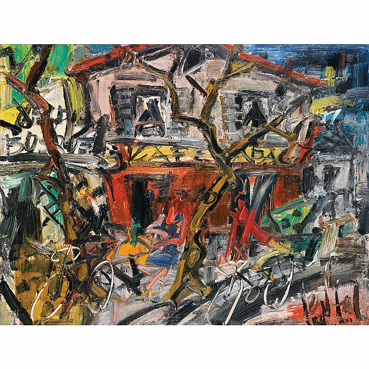 GEN PAUL (EUGENE PAUL DIT) (1895-1975). La guinguette, 1960. Oil on canvas; signed lower right; signed, tittled and dated on the back.