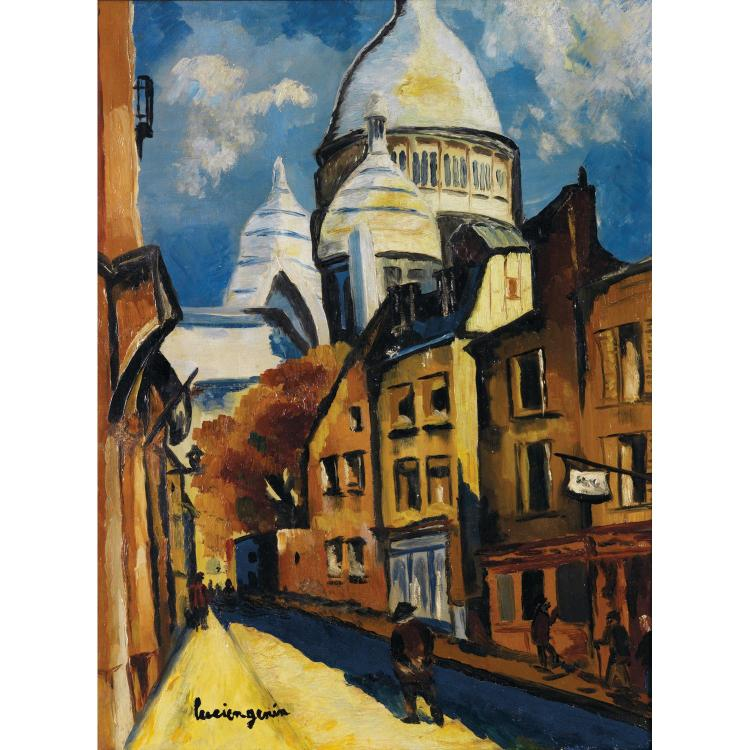 LUCIEN GENIN (1894-1953). Vue du Sacré coeur. Oil on canvas; signed lower left. 24 x 18 1/8 in.