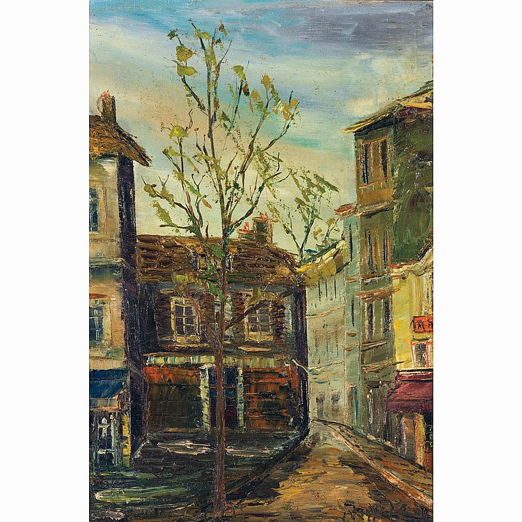 ƒFRANK-WILL (Frank William Boggs dit) (1900-1951). La rue Norvins. Oil on canvas; signed lower right. 13 3/4 x 9 7/16 in.
