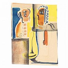 Victor Brauner (1903 - 1966). Le couple 1929. Gouache and watercolour on paper. 5 7/8 x 3 15/16 in.