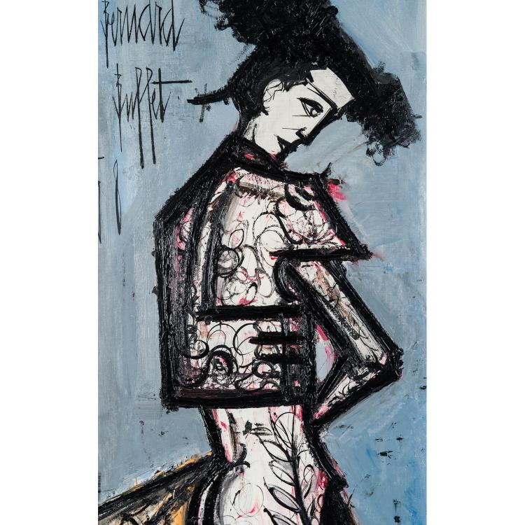 Bernard Buffet (1928-1999). Le toréro 1958. Oil on canvas; signed and dated