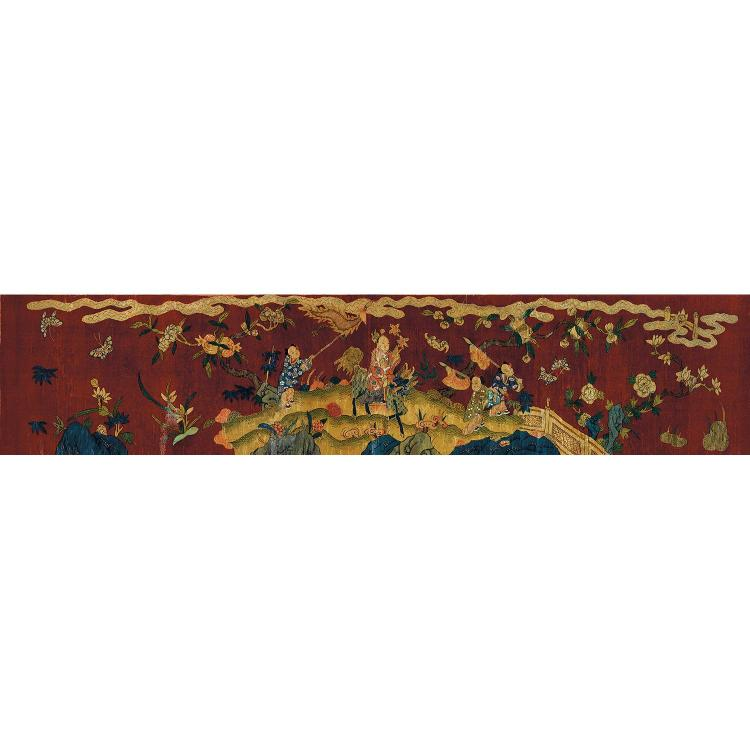 PANNEAU HORIZONTAL en tapisserie de soie, dite