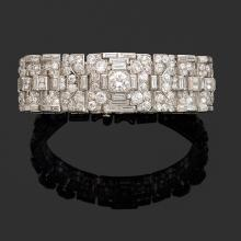 A diamond and platinum bracelet, circa 1925.