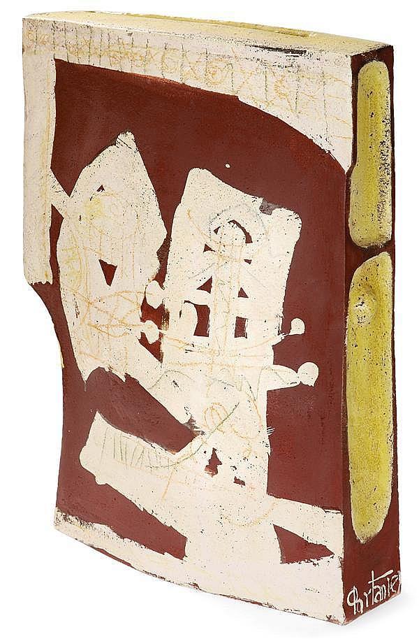 Gilbert PORTANIER (Né en 1926) Grand vase sculpture