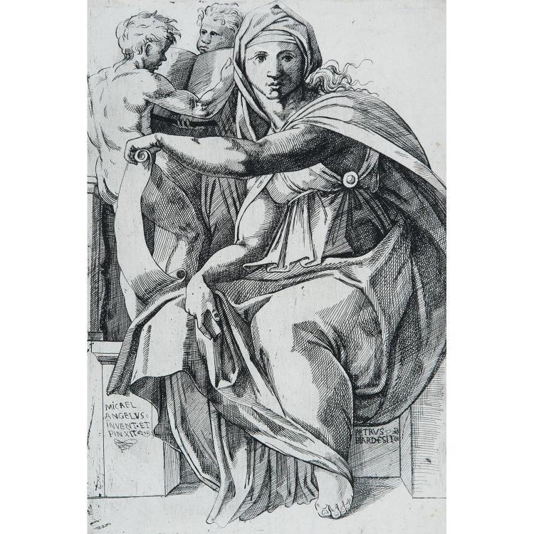 PIERRE BIARD, le fils (1592-1661)  LA SIBYLLE DELPHIQUE, d'après Michel-Ange
