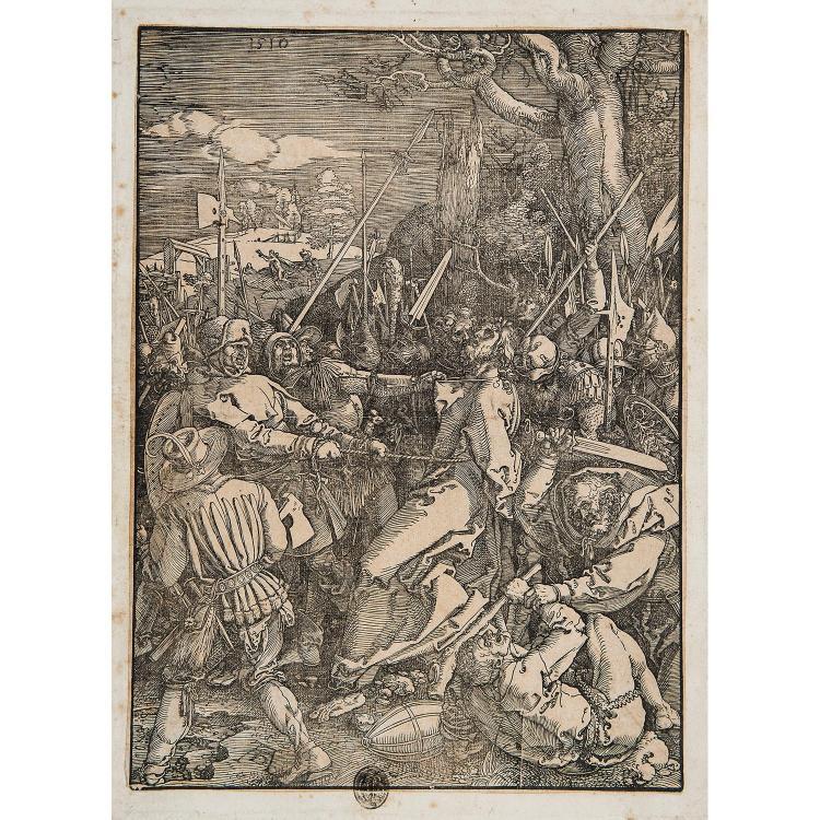 ALBRECHT DÜRER (1471-1528) LE BAISER DE JUDAS, planche de la Grande Passion