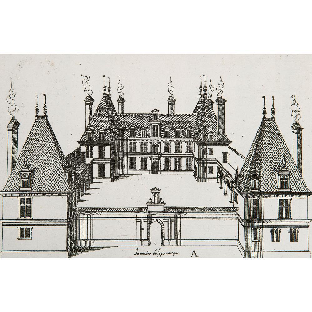 JACQUES ANDROUET DU CERCEAU (1510/12 - 1585) LOGIS DOMESTIQUES, série complète de 15 planches