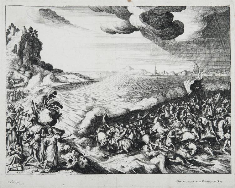 NICOLAS COCHIN, D'APRÈS (1715-1790) LE PASSAGE DE LA MER ROUGE