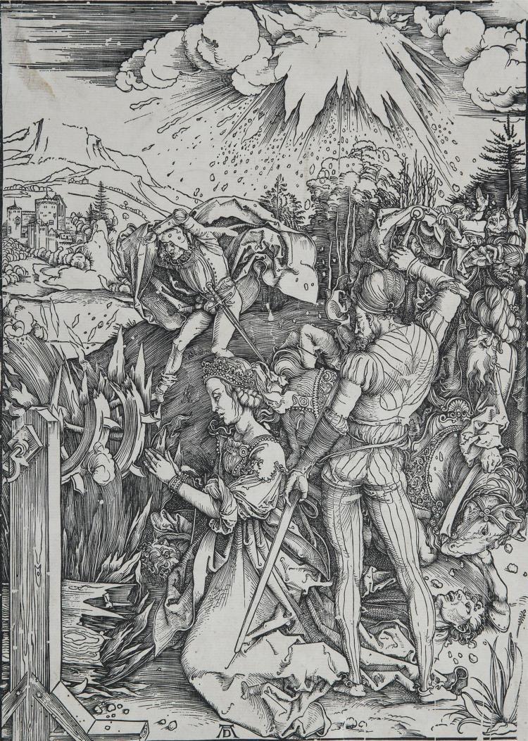 ALBRECHT DÜRER (1471-1528) LE MARTYRE DE SAINTE CATHERINE