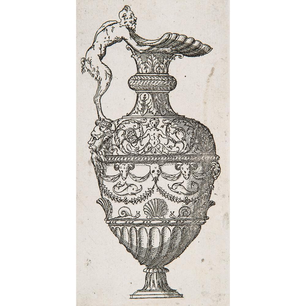 JACQUES ANDROUET DU CERCEAU (1510/12-1585) VASES, série de 44 planches (sur 49) regroupant des aiguières, urnes, flacon, vases d'apr...