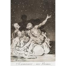 FRANCISCO GOYA (1746–1828) LES CAPRICES, planches17, 35, 71.