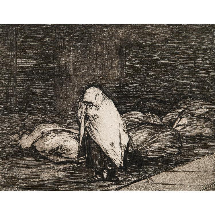 FRANCISCO GOYA (1746–1828) LES DÉSASTRES DE LA GUERRE, planches 14, 62.