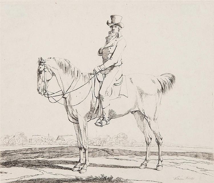 WILHELM VON KOBELL (1766-1855) DEUX CAVALIERS