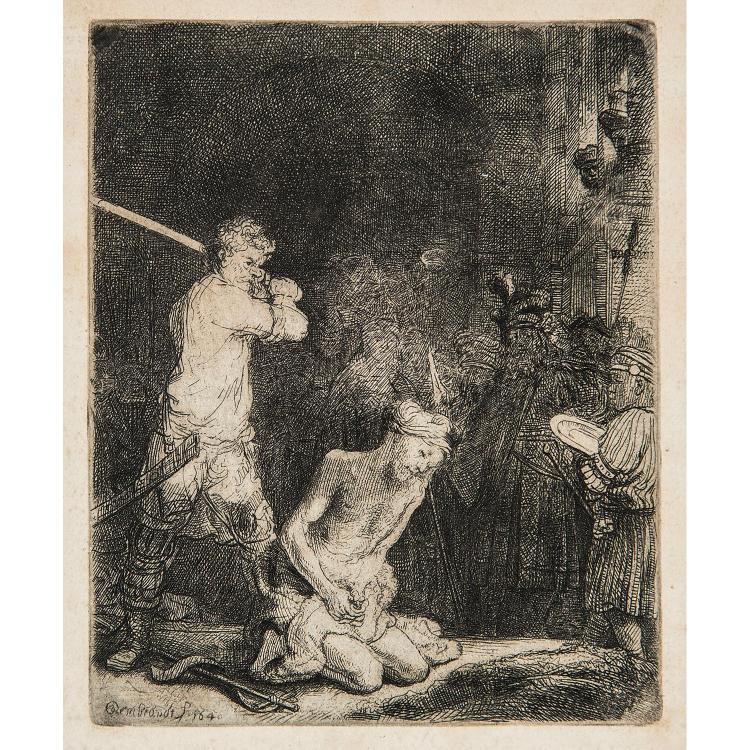 REMBRANDT VAN RIJN (1606 – 1669) LA DÉCOLLATION DE SAINT JEAN BAPTISTE