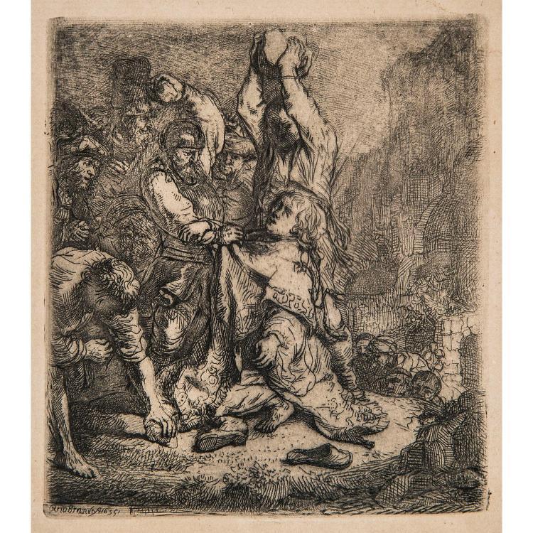 REMBRANDT VAN RIJN (1606 – 1669) LA LAPIDATION DE SAINT ÉTIENNE