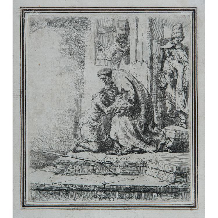 REMBRANDT VAN RIJN (1606-1669) LE RETOUR DE L'ENFANT PRODIGUE
