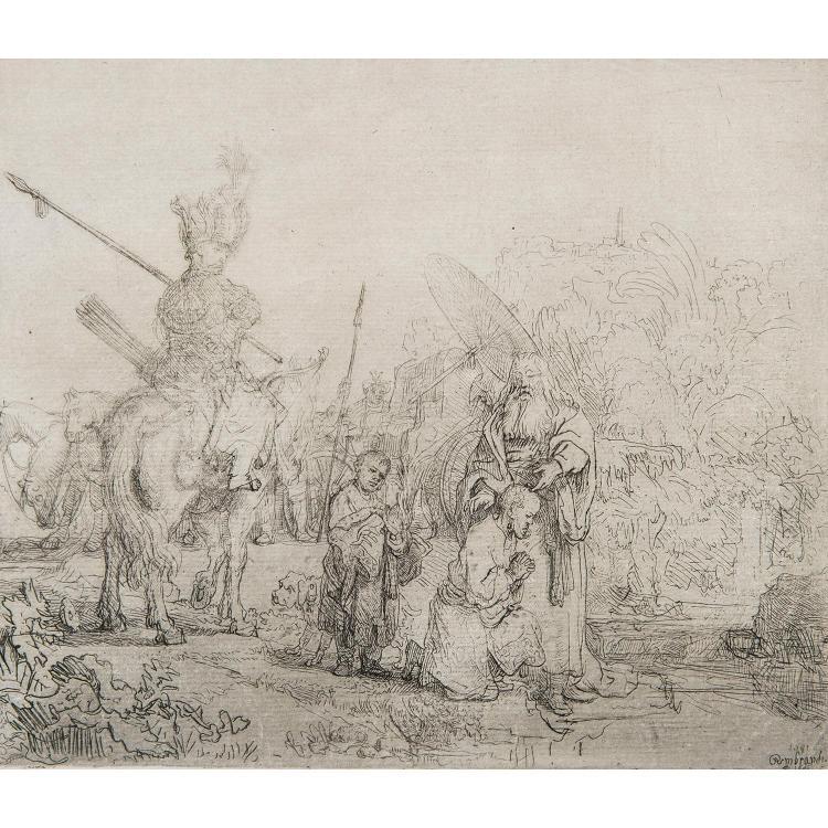 REMBRANDT VAN RIJN (1606-1669) LE BAPTÊME DE L'EUNUQUE