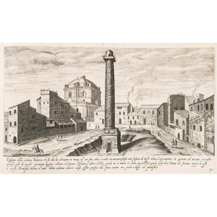 AEGIDIUS SADELER (1570-1692) VESTIGI DELLA ANTICHITA DI ROMA TIVOLI POZZVOLO ET ALTRI LUOCHI