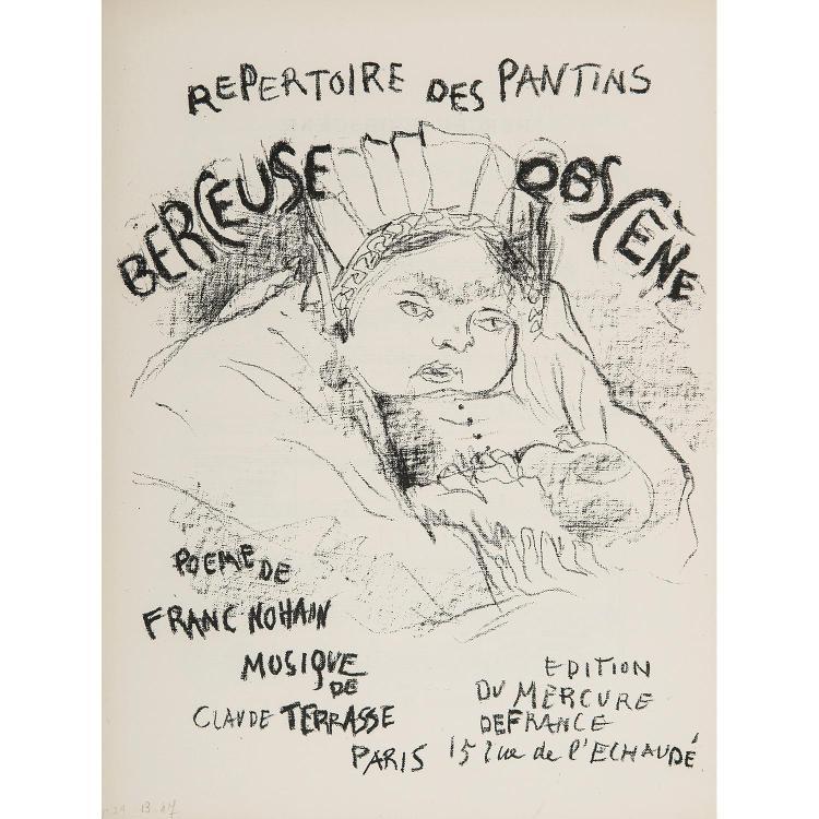 PIERRE BONNARD (1867-1947) LE REPERTOIRE DES PANTINS, six couvertures pour les chansons du Petit Théâtre, Poèmes de Franc Nohain, mu...