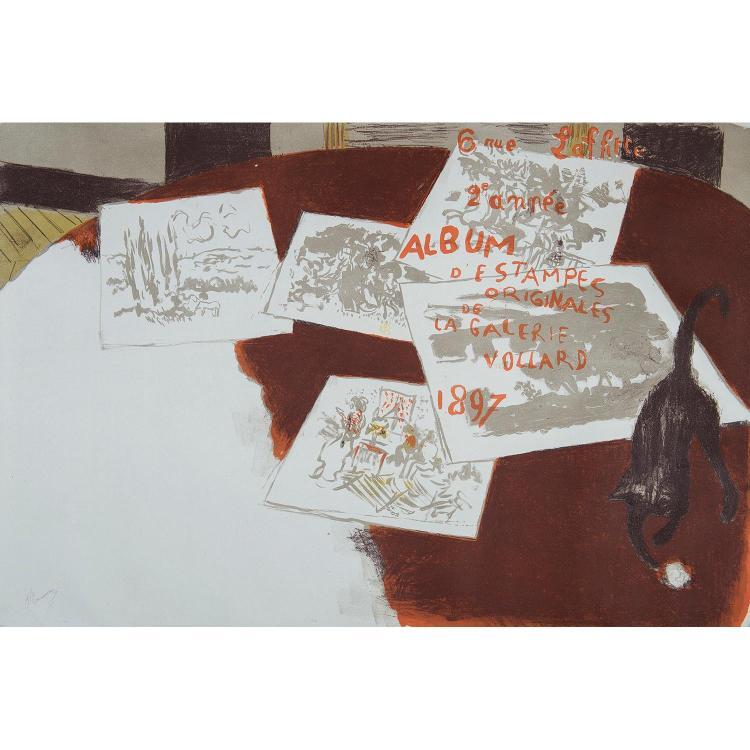 PIERRE BONNARD (1867-1947) COUVERTURE du deuxième Album d'estampes originales de la Galerie Vollard, 1897
