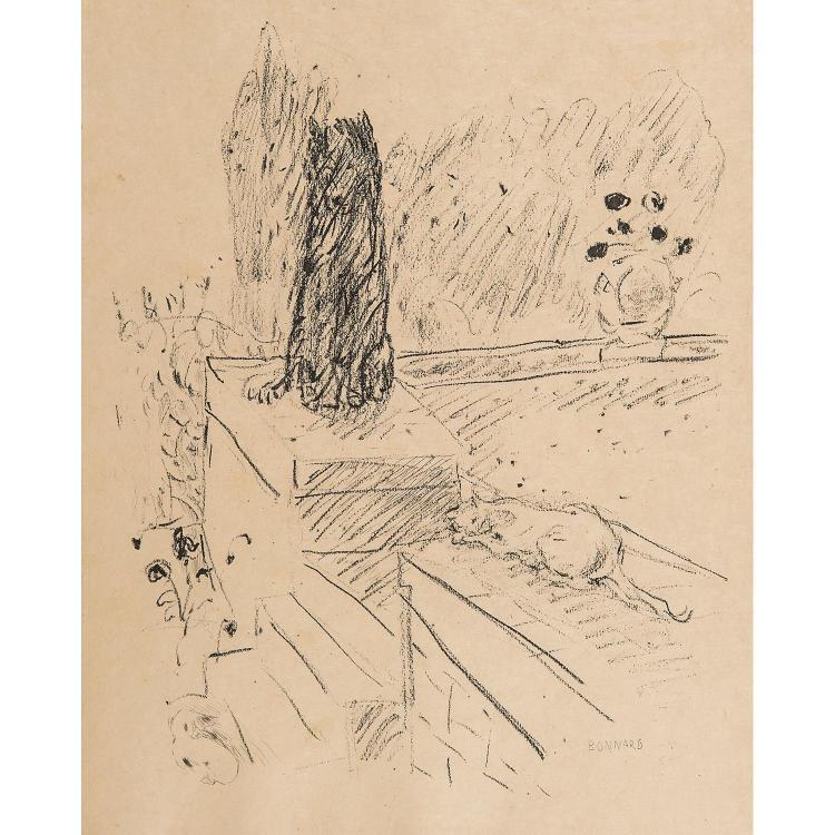 PIERRE BONNARD (1867-1947) CHIEN ET CHAT