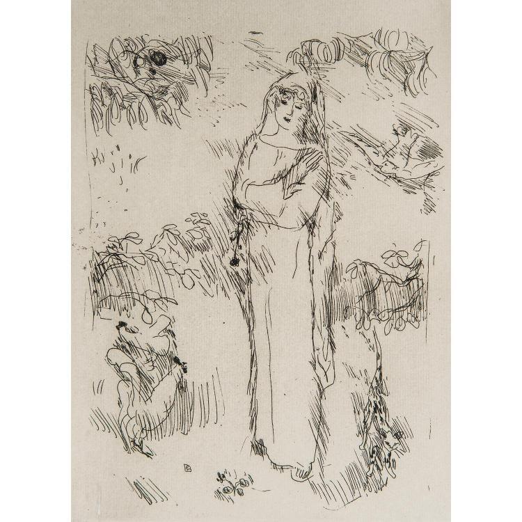 PIERRE BONNARD (1867-1947) LA VIE DE SAINTE MONIQUE, une planche