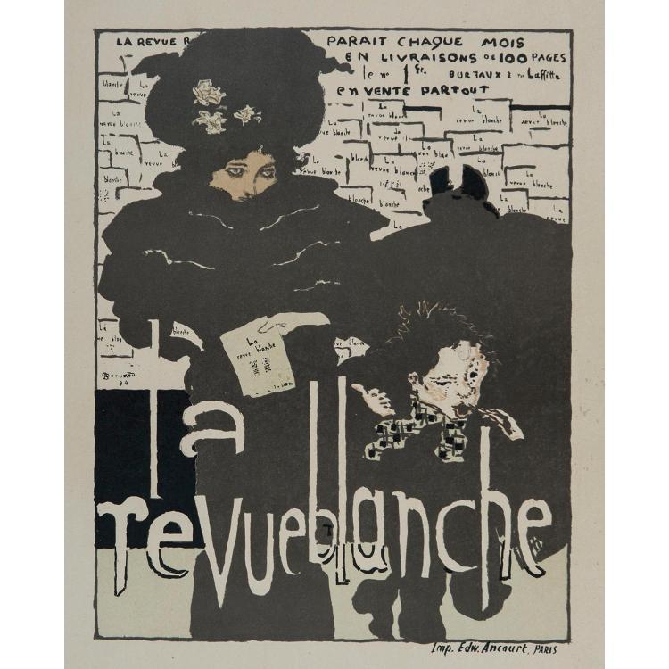 PIERRE BONNARD (1867–1947) LA REVUE BLANCHE, planche 38 des Maîtres de l'Affiche Belle épreuve, légèrement jaunie sur vélin....