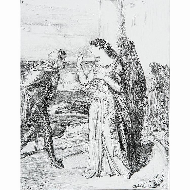 THÉODORE CHASSÉRIAU (1819-1856) LA TRAHISON DE IAGO, planche de la série Othello
