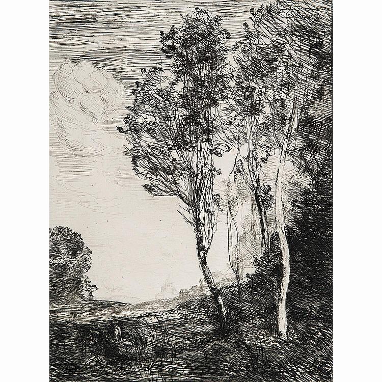 CAMILLE COROT (1796-1875) SOUVENIR D'ITALIE