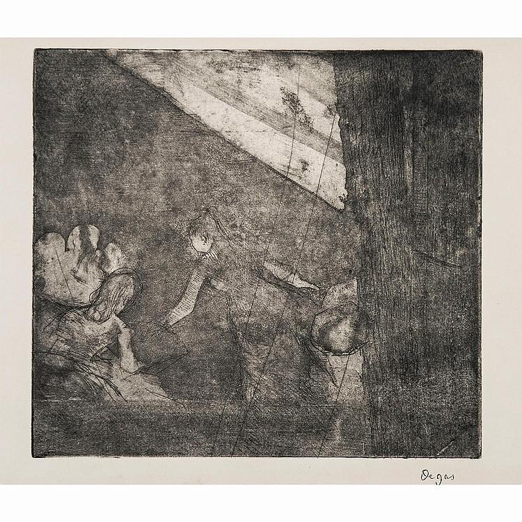EDGAR DEGAS (1834-1917) AU CAFÉ DES AMBASSADEURS