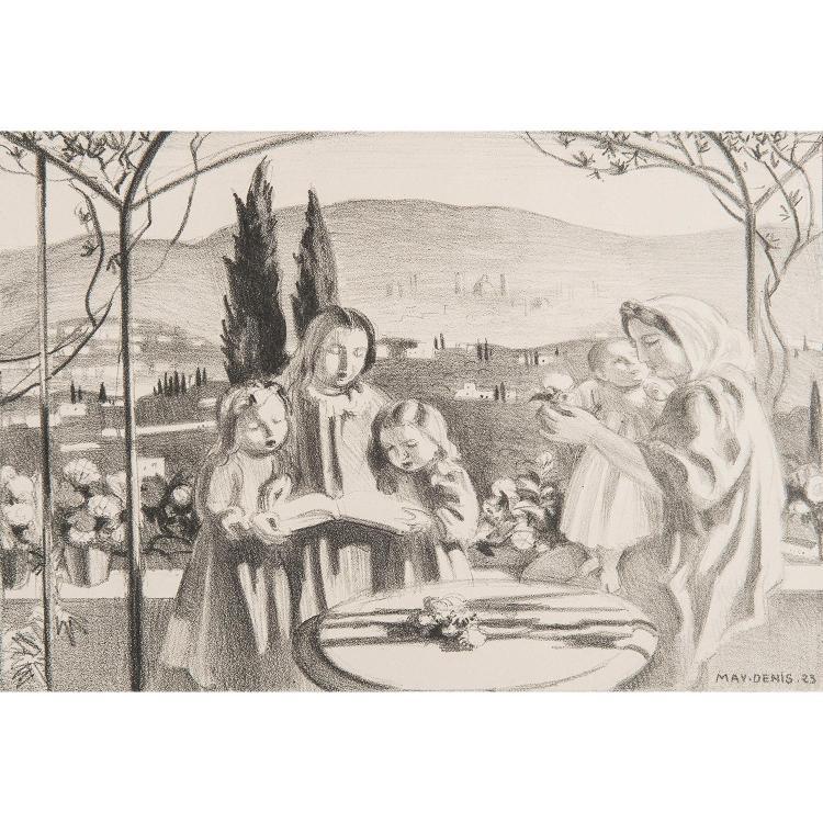 MAURICE DENIS (1870-1943) LA TERRASSE