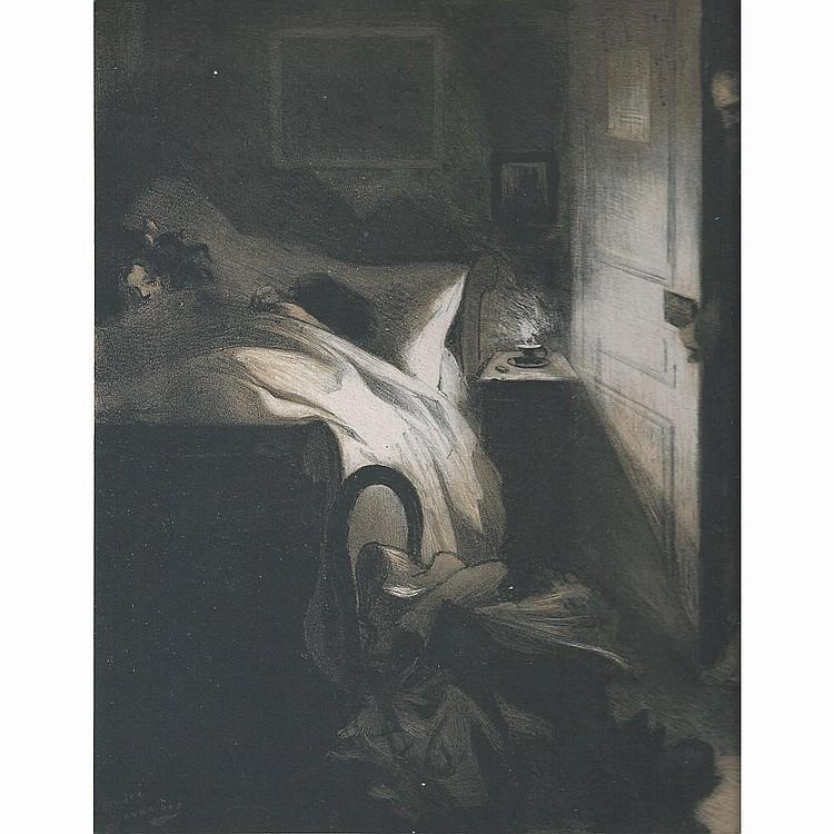 ANDRÉ DEVAMBEZ (1867-1943) L'AMANT JALOUX, planche de