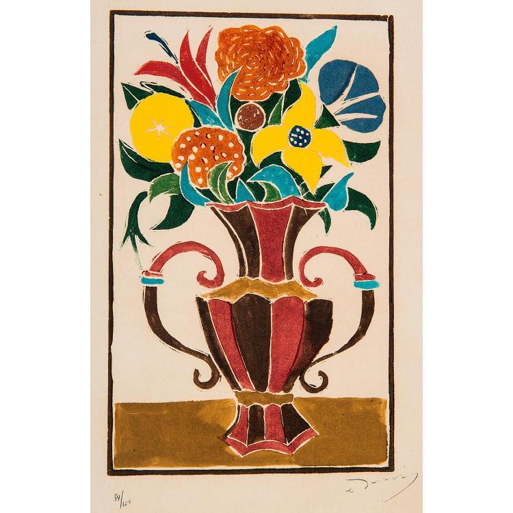 ANDRÉ DERAIN (1880-1954) BOUQUET DE FLEURS DANS UN VASE, 1945