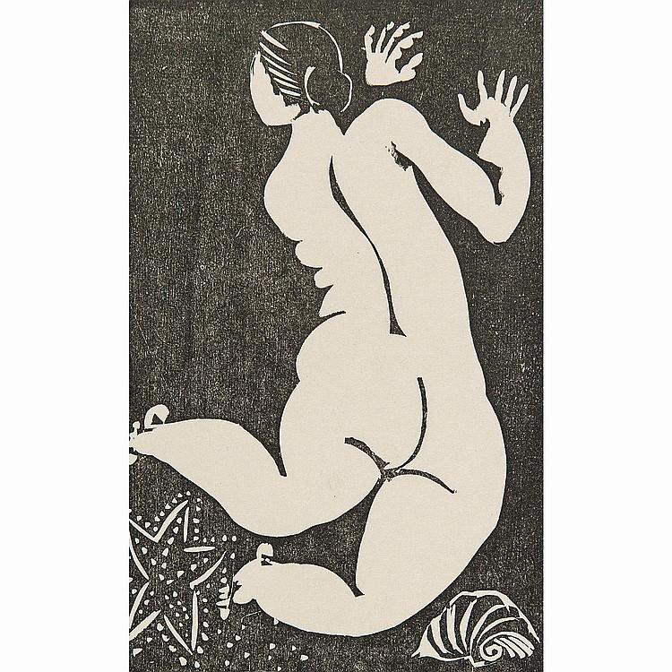 RAOUL DUFY (1877-1953) BAIGNEUSE À L'ÉTOILE DE MER