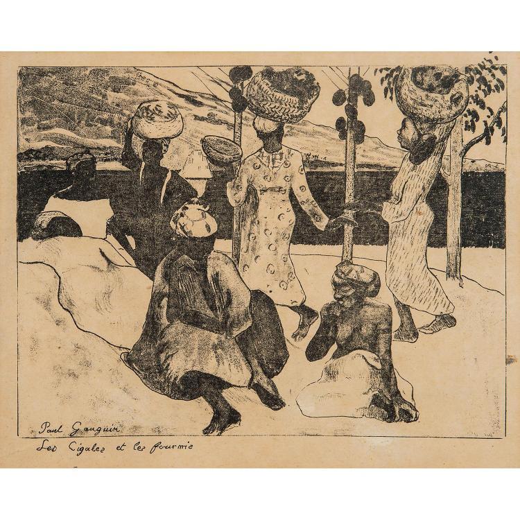 PAUL GAUGUIN (1848-1903) LES CIGALES ET LES FOURMIS-SOUVENIR DE LA MARTINIQUE