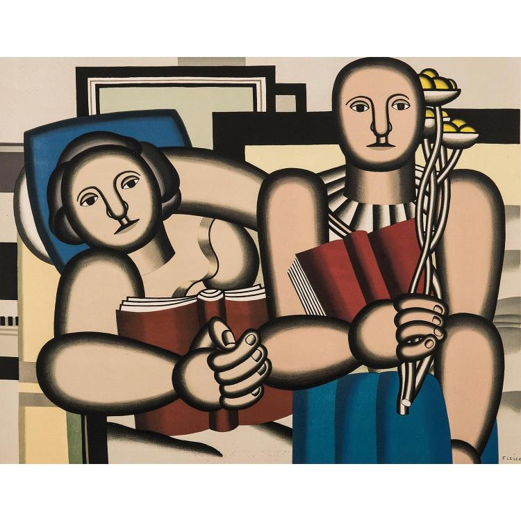 FERNAND LÉGER, D'APRÈS (1881-1955) LA LECTURE, 1953