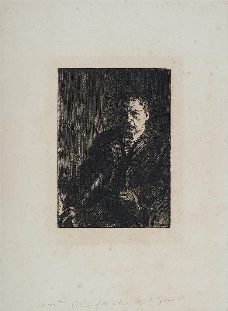 ANDERS LEONARD ZORN (1860-1920) AUTOPORTRAIT