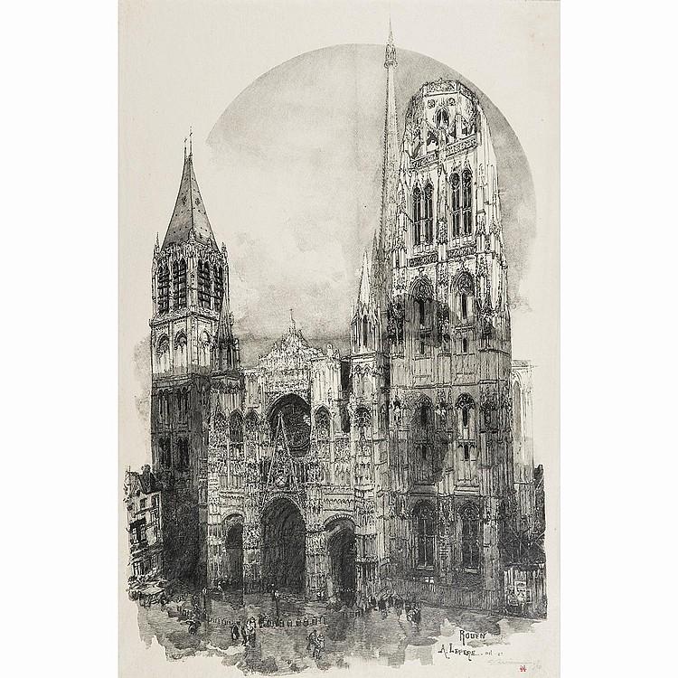 AUGUSTE LEPÈRE (1849-1918) VUE DE LA CATHÉDRALE DE ROUEN