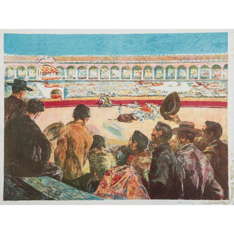 ALEXANDRE LUNOIS (1863-1916) SCÈNES DE TAUROMACHIE, six planches