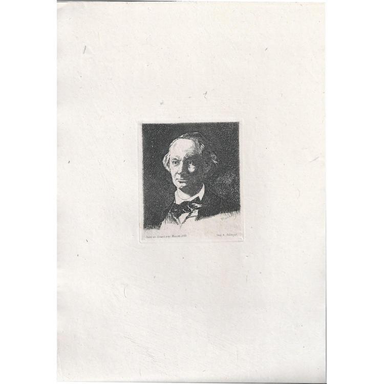 ÉDOUARD MANET (1832-1883) BAUDELAIRE DE PROFIL EN CHAPEAU (deuxième planche), BAUDELAIRE DE FACE (troisième planche)