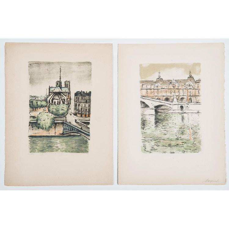 ALBERT MARQUET (1875-1947) TROIS PONTS DE PARIS